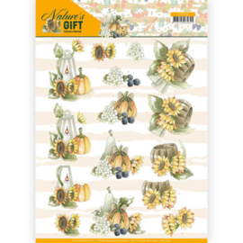 3D knipvel - Precious Marieke - Nature's Gift - Yellow Gift  CD11350