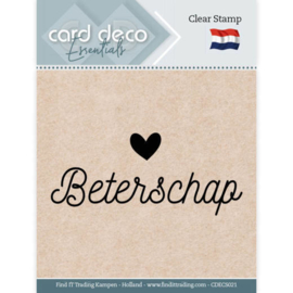 Card Deco Essentials - Clear Stamps - Beterschap  CDECS021