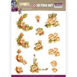 3D Push Out - Precious Marieke - Romantic Roses - Orange Rose  SB10516