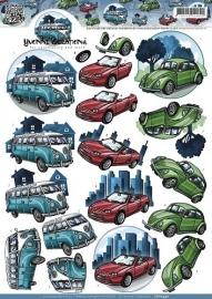 CD10440 3D Knipvel - Yvonne Creations - Classic cars