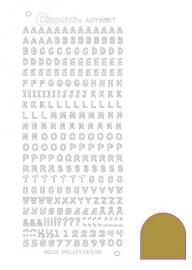 Clippunch Alphabet sticker adhesive gold
