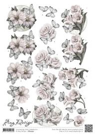 CD10727 3D Knipvel - Amy Design - Condoleance bloemen
