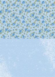 NEVA013 background sheets A4 blueroses