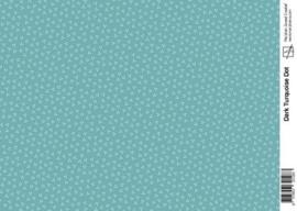 Marjoleine dark turquoise dot