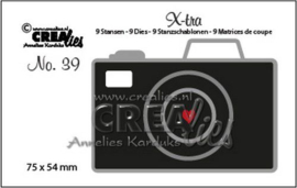 Crealies X-tra no. 39 Camera middel CLX-tra39 75x54mm