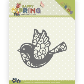 Dies - Precious Marieke - Happy Spring - Happy Bird - HZ Die  PM10151 ca. 5,2 x 4,2 cm.
