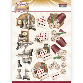 3D cutting sheet - Yvonne Creations - Good old day's - Games  CD11590