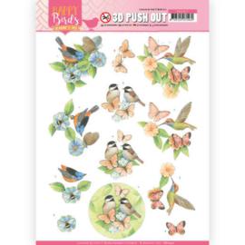 3D uitdrukvel - Jeanine's Art - Happy Birds - Gevederde vrienden  SB10417