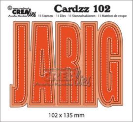 Crealies Cardzz no 102 JARIG (NL) CLCZ102 102x135mm