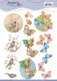 3D Cutting Sheet - Jeanine's Art - Birds and Blossom  CD11474