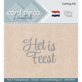 Card Deco Essentials - Cutting Dies - Het is Feest CDECD0049