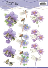3D Cutting Sheet - Jeanine's Art - Bees and Dragonflies CD11336