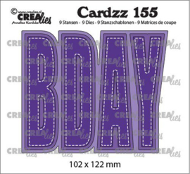 Crealies Cardzz no 155 BDAY (ENG) CLCZ155 102x122mm