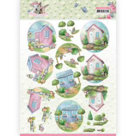 3D Knipvel - Amy Design - Spring is Here - Garden Sheds   CD11279