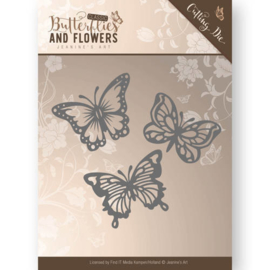 Die - Jeanine's Art - Classic Butterflies and Flowers - Butterflies JAD10024