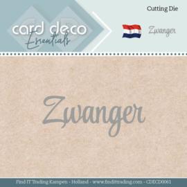 Card Deco Essentials - Dies - Zwanger  CDECD0061