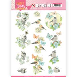 3D uitdrukvel - Jeanine's Art - Happy Birds - Blauwe dans  SB10414