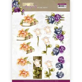 3D cutting sheet - Precious Marieke - Romantic Roses - Multicolor Rose  CD11614
