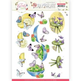 3D Push Out - Jeanine's Art - Butterfly Touch - Purple Butterfly SB10545