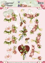 3D Knipvel - Precious Marieke - Seasonal Flowers - Huwelijk CD10800-HJ14101