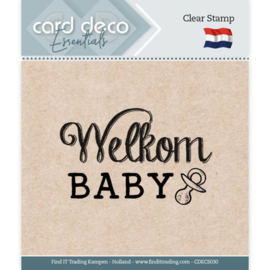 Card Deco Essentials - Clear Stamps - Welkom Baby  CDECS030