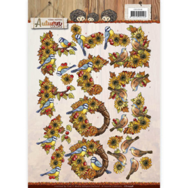 3D Knipvel - Yvonne Creations - Autumn Colors - Autumn Birds   CD10948