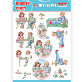 3D Pushout - Yvonne Creations- Bubbly Girls - Me Time  SB10348