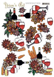 3D Knipvel - Yvon's Art Factory - Wine Feast  CD11235