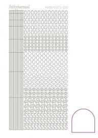 Hobbydots sticker 10 - Adhesive - White