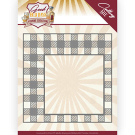 Dies - Yvonne Creations - Good old day's - Checkered Frame  YCD10220   Formaat ca. 12,2 x 12,2 cm
