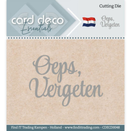 Card Deco Essentials - Cutting Dies - Oeps, vergeten CDECD0048