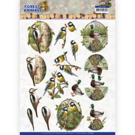 3D cutting sheet - Amy Design Forest Animals - Woodpacker  CD11650