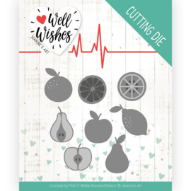 Dies - Jeanine's Art - Well Wishes - Fruits JAD10093  Formaat ca. 8 x 9,7 cm