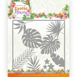 Dies - Jeanine's Art - Exotic Flowers - Leaf and Flower Frame JAD10130