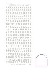 Clippunch Alphabet sticker adhesive white