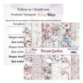 ScrapBoys Dream Garden paperpad 24 vl+cut out elements-DZ DRGA-09 190gr 15,2cmx15,2cm