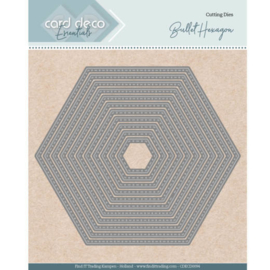 Card Deco Essentials - Nesting Dies - Bullet Hexagon  CDECD0094