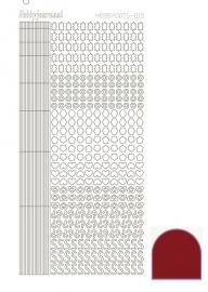 Hobbydots sticker 10 - Mirror - Red