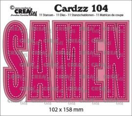 Crealies Cardzz no 104 SAMEN (NL) CLCZ104 102x158mm