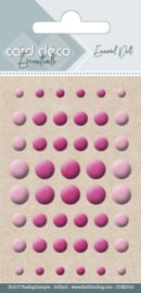 Card Deco Essentials - Enamel Dots Bright Pink  CDEED012