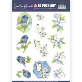 3D Push Out - Jeanine's Art - Sensitive Moments - Lily  SB10470