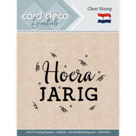Card Deco Essentials - Clear Stamps - Hoera Jarig  CDECS020