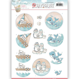 3D Pushout - Yvonne Creations - Welcome Baby - By The Sea SB10265