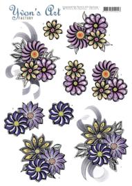 3D Knipvel - Yvon's Art - Flower Corsage  CD11271
