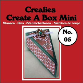 Create A Box Mini stans no. 05, Taartpunt Eindresultaat: 9,5 x 5,0 x 3,5 cm