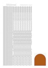 Hobbydots sticker - Mirror Brown 2