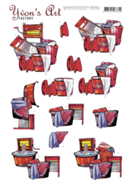 3D Cutting Sheet - Yvon's Art - Back in time  CD11530