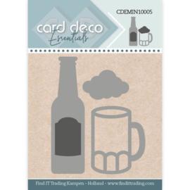 Card Deco Essentials - Mini Dies - Beer  CDEMIN10005  Formaat ca. 4,2 x 5,3 cm