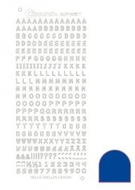 Clippunch Alphabet sticker adhesive blue