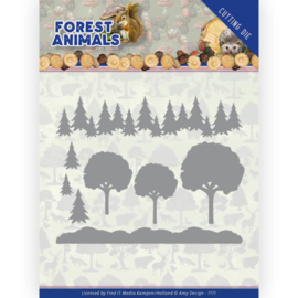 Dies - Amy Design Forest Animals - In the Forrest  ADD10232  Formaat ca. 12,5 x 10